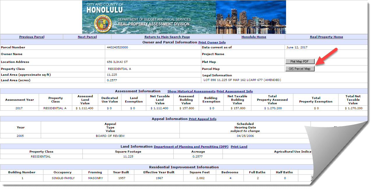 Tax Info from Honolulu City and County